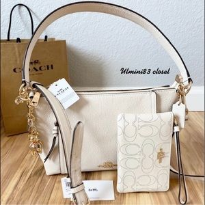 🆕🌷Coach Marlon satchel bag set/crossbody bag set